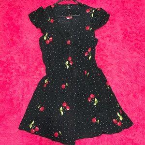 forever 21 cherry print wrap dress